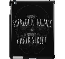 Sherlock Holmes 221B  iPad Case/Skin