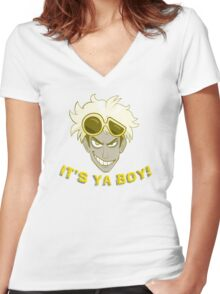Pokemon Sun and Moon - It's Ya Boy, Guzma Women's Fitted V-Neck T-Shirt
