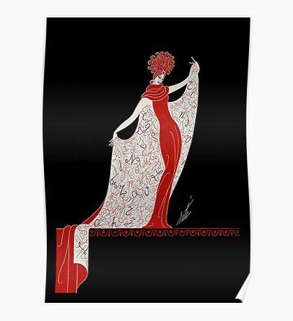 "Art Deco Costume by Erte ""Alphabet Cloak"" Poster"