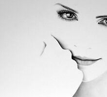 Emma Watson Minimal Portrait by IleanaHunterArt