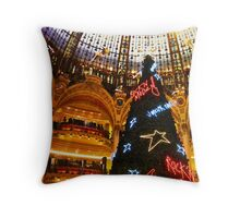 Merry Christmas at Galeries Lafayette Throw Pillow