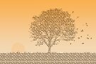 Autumn Tree Text by Andrew Bret Wallis