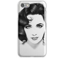 Elizabeth Taylor Minimal Portrait iPhone Case/Skin