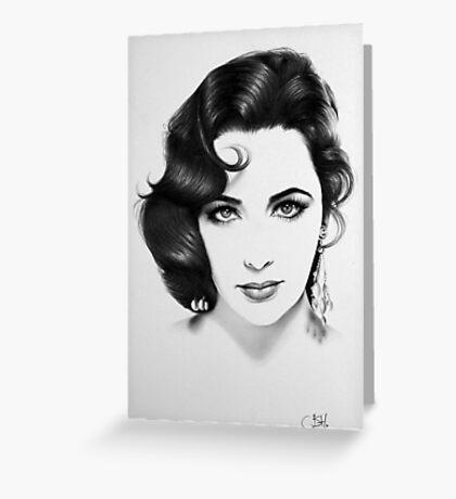 Elizabeth Taylor Minimal Portrait Greeting Card