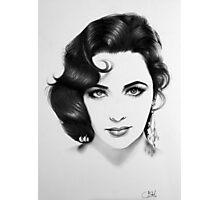 Elizabeth Taylor Minimal Portrait Photographic Print