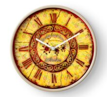 064 Wall Clock Vintage with fabric and iron Clock