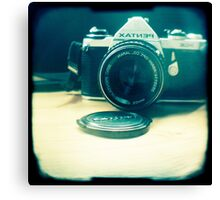 Old friend - vintage Pentax camera Canvas Print