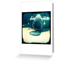 Old friend - vintage Pentax camera Greeting Card