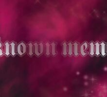 unknown memory Sticker