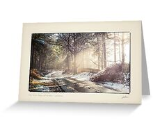 The First Snow of Winter Greeting Card