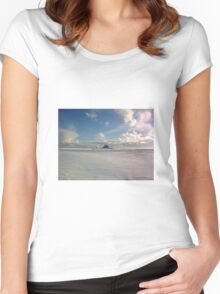 xmas island Women's Fitted Scoop T-Shirt