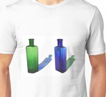 Green & Blue Bottles Unisex T-Shirt