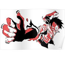 ONE PIECE: Angry Luffy Vector Art  Poster