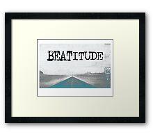BEATITUDE Framed Print