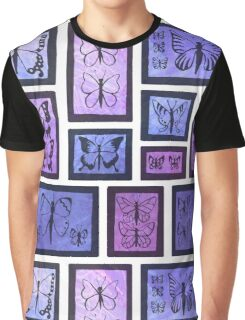 Butterfly Collection - Purple Graphic T-Shirt