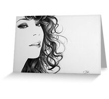 Mariah Carey Minimal Portrait Greeting Card
