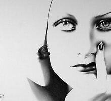 Joan Crawford Minimal Portrait by IleanaHunterArt