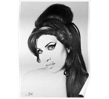 Amy Winehouse Minimal Portrait Poster