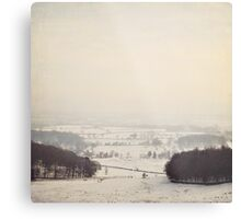 Snow covers the land Metal Print