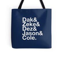 Dallas Cowboy Squad T-shirt Tote Bag