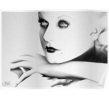 Jean Harlow Minimal Portrait Poster