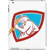 Zeus Wielding Thunderbolt Shield Retro iPad Case/Skin