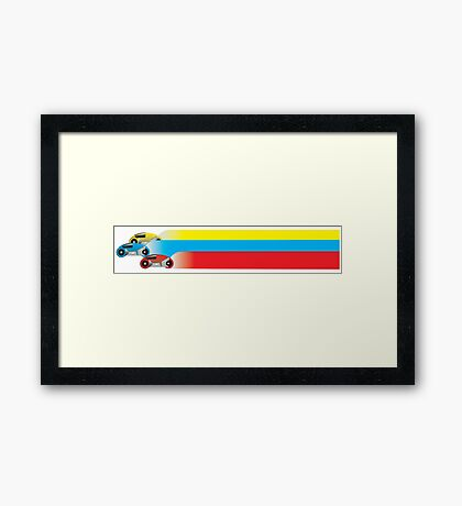 Light Cycles Framed Print
