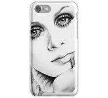 Twiggy Minimal Portrait iPhone Case/Skin