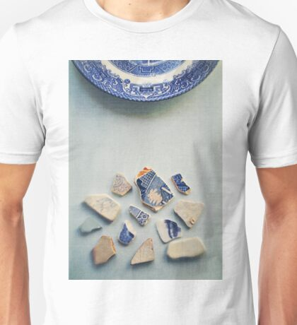 Picking up the broken pieces. Unisex T-Shirt