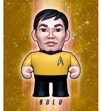 Sulu - Star Trek Caricature Sticker