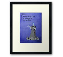 Hercules inspired design (Hades). Framed Print