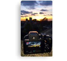 Sunset through camera Canvas Print