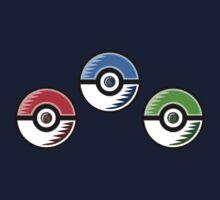 Pokemon - Starter Pokeballs One Piece - Long Sleeve