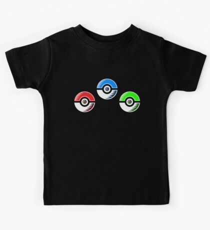 Pokemon - Starter Pokeballs Kids Tee