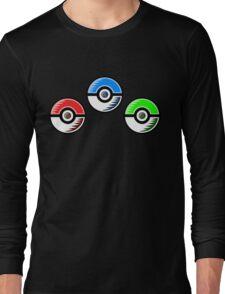 Pokemon - Starter Pokeballs Long Sleeve T-Shirt