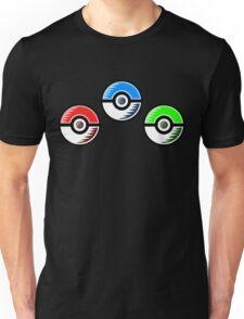 Pokemon - Starter Pokeballs Unisex T-Shirt