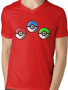 Pokemon - Starter Pokeballs Mens V-Neck T-Shirt