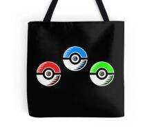 Pokemon - Starter Pokeballs Tote Bag