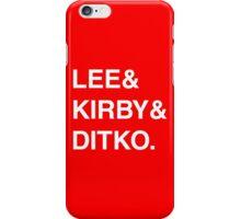 Stan Lee & Jack Kirby & Steve Ditko. iPhone Case/Skin