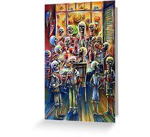 Skeleton Wine Party Greeting Card