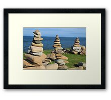 holy island, past and present Framed Print