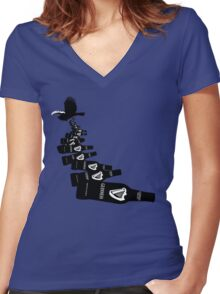Funny Irish beer Women's Fitted V-Neck T-Shirt