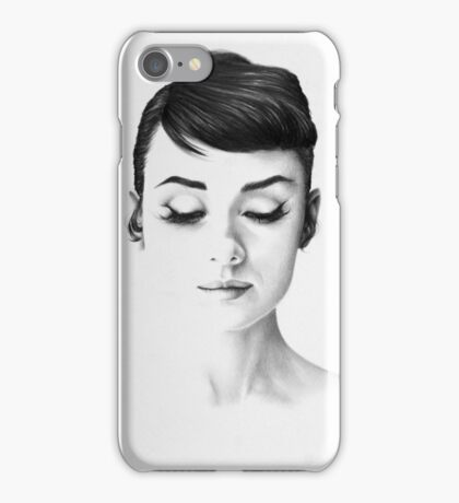 Audrey Hepburn Minimal Portrait iPhone Case/Skin