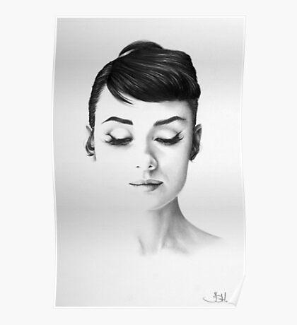 Audrey Hepburn Minimal Portrait Poster