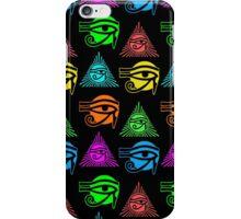 Eye of Horus, or Eye of Ra, Multicolored Egyptian iPhone Case/Skin