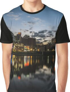 Nashville Skyline at dusk  Graphic T-Shirt