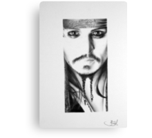 Johnny Depp Pencil Portrait Canvas Print