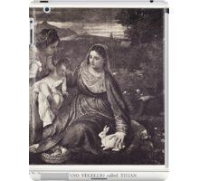 HOLLY FAMILY (La Vierge au lapin) iPad Case/Skin