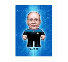 EMH Doctor - Star Trek Caricature Art Print