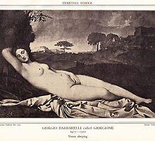 Venus sleeping by Krzyzanowski Art